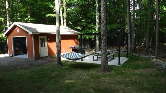 backyard.hammock